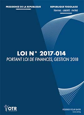 LOI N° 2017-014 PORTANT LOI DE FINANCES, GESTION 2018